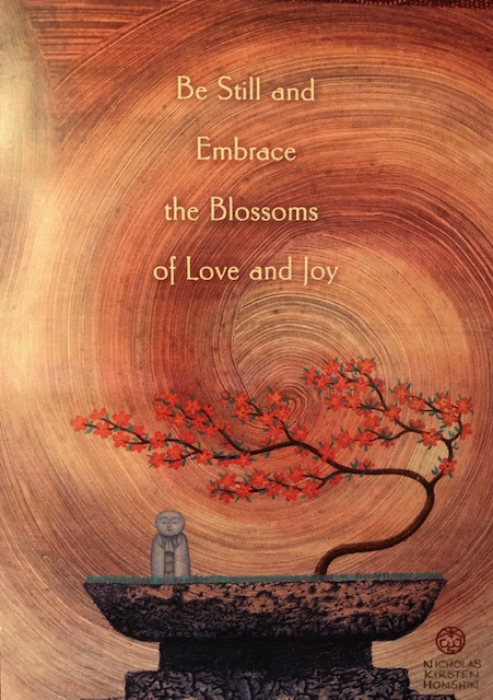 Be still and embrace the blossoms of love and joy image