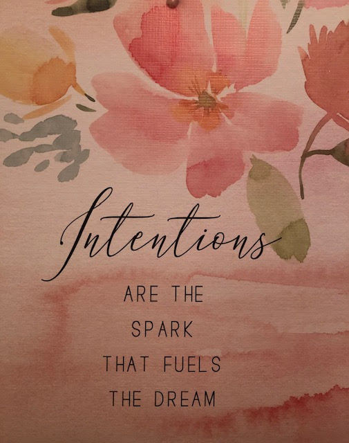 Intentions are the spark that fuels the dream image